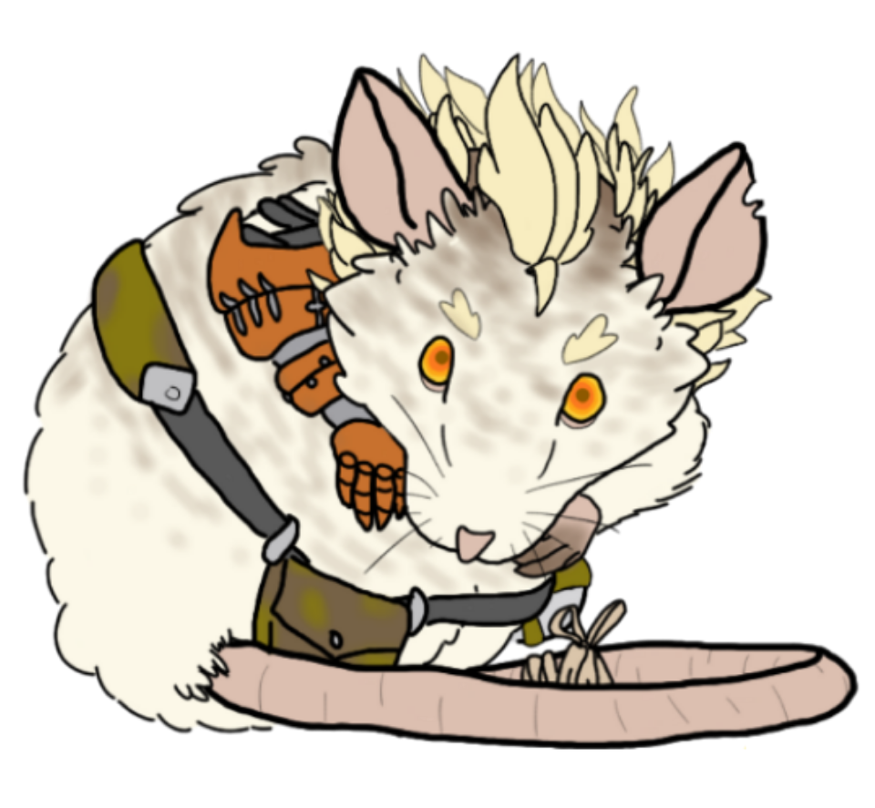 The real junkrat by. Zombie clipart rat