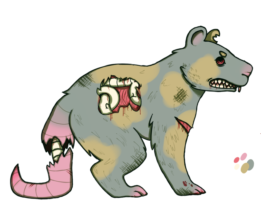 Zombie clipart rat. By roxithepanda on deviantart
