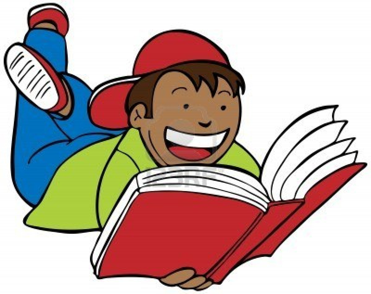 Clipart reading. Free clip art children