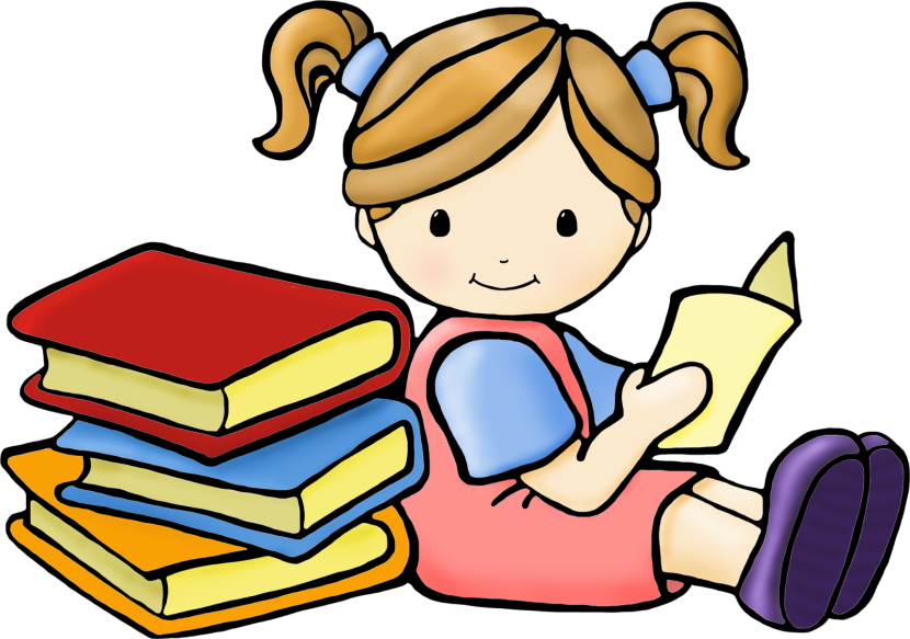 Working clipart quietly.  collection of reading
