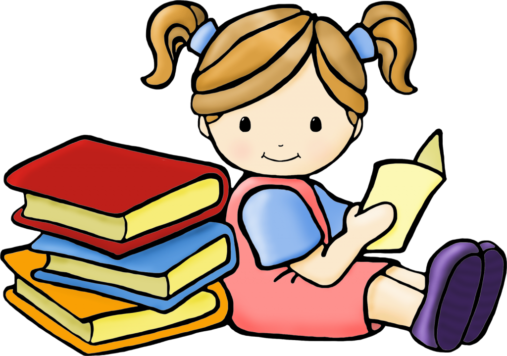 Textbook clipart kid book. Reading group of kids