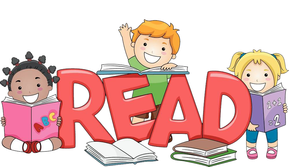 Child reading free content. Learn clipart children