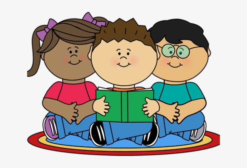 Clipart reading class reading. Image of school children