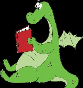 . Dragon clipart reading