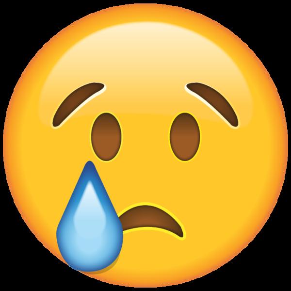 When the tears start. Emoji clipart book