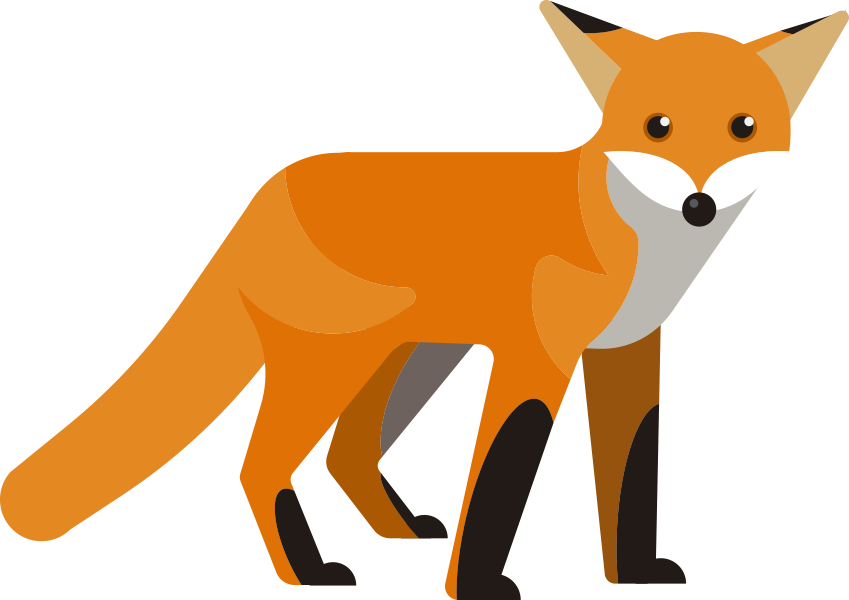 The library voice ways. Clipart reading fox