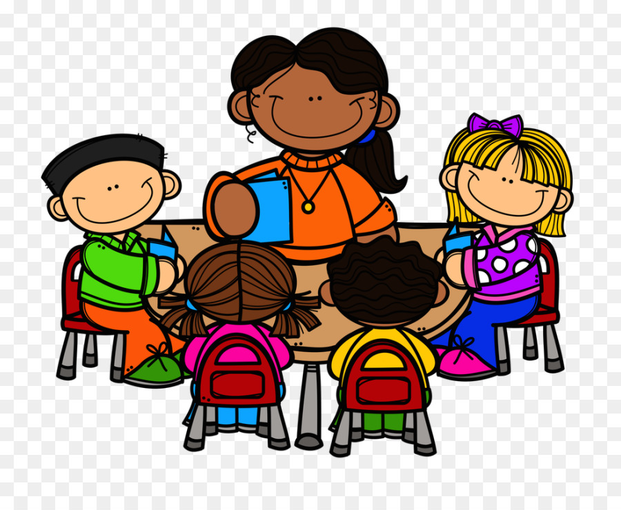 Cartoon teacher table school. Clipart reading guided reading