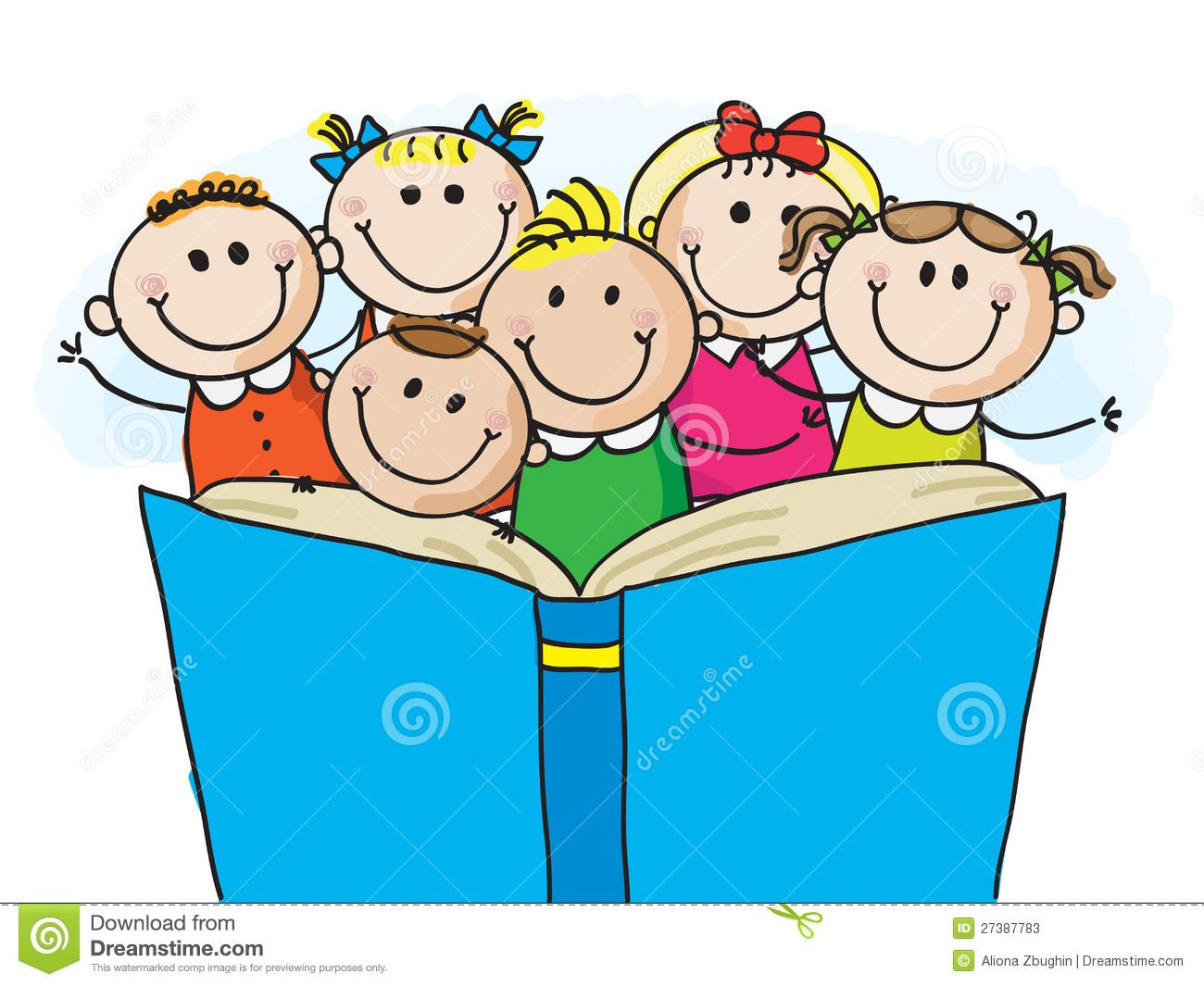 Illustration about group of. Clipart reading happy reading
