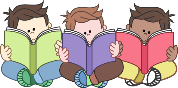 Cliparts zone . Clipart reading happy reading