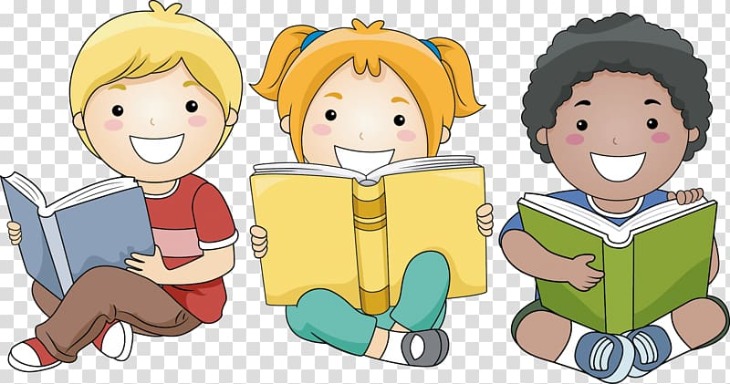 Clipart reading happy reading. Child book transparent background