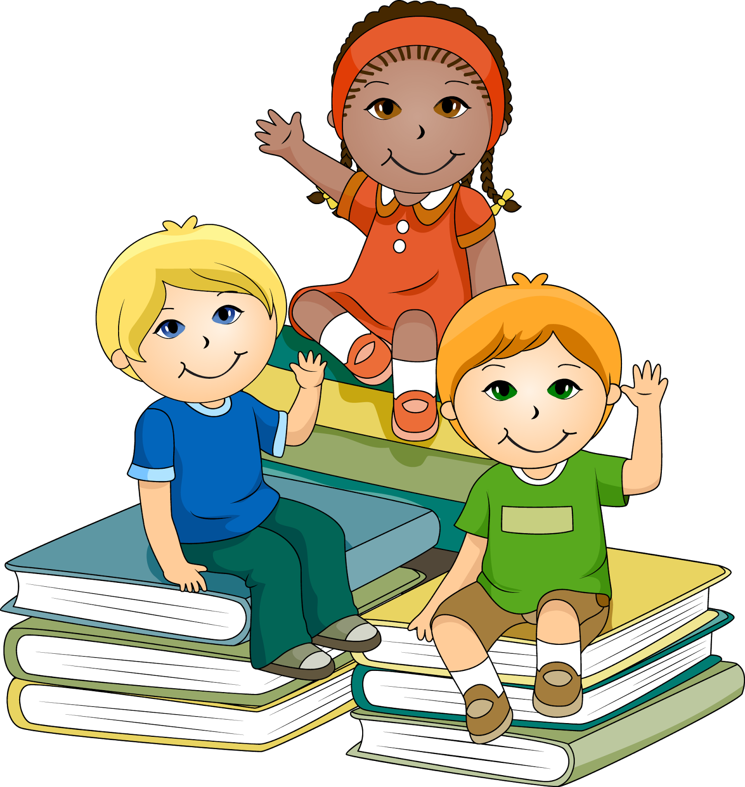Clipart reading home reading. Reception class group books
