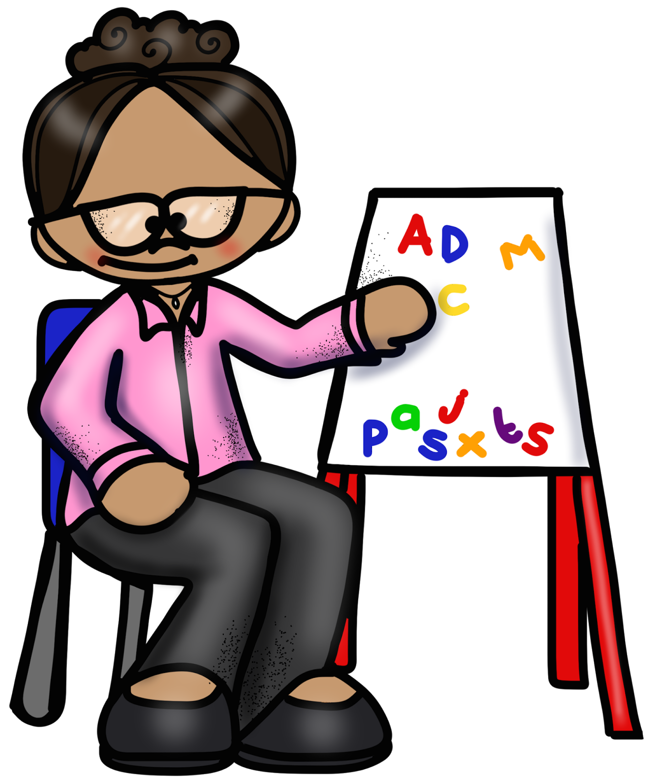 Reading data all things. Easel clipart student