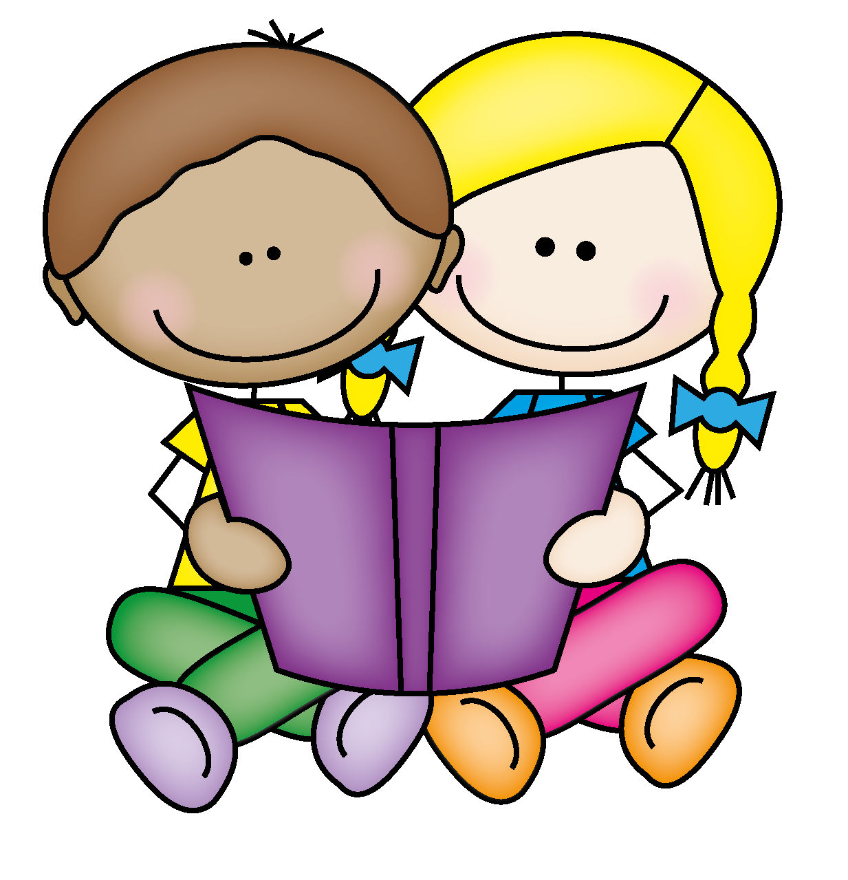 Kids together letters format. Clipart reading magazine