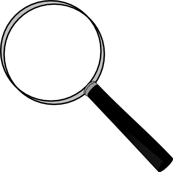 Clip on magnifying glass. Hands clipart lense