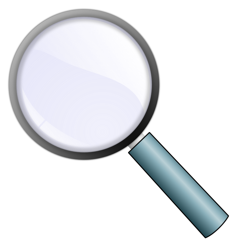 Icon powerpoint the base. Explorer clipart magnifying glass
