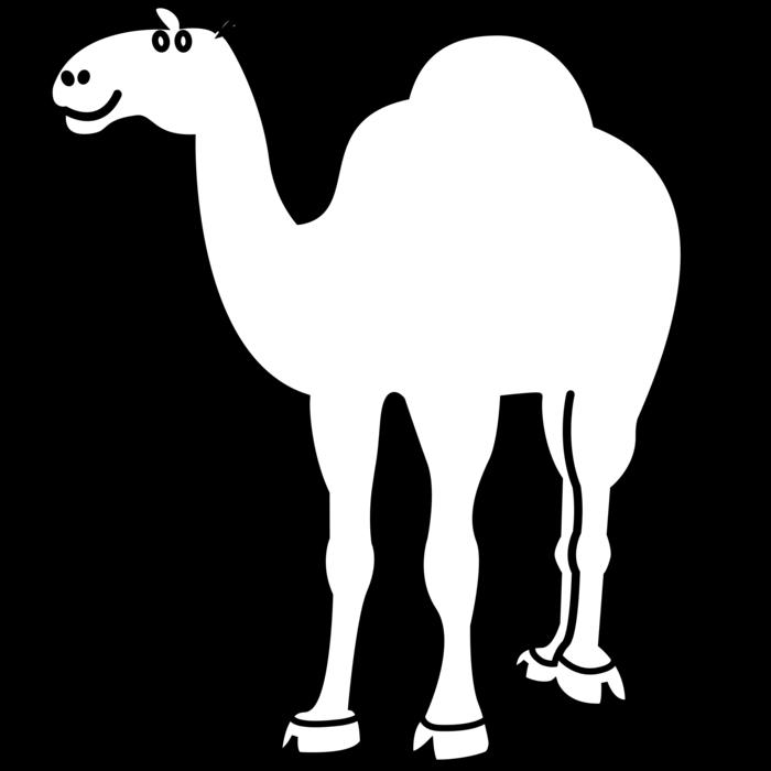 Camel animal free black. Yak clipart outline