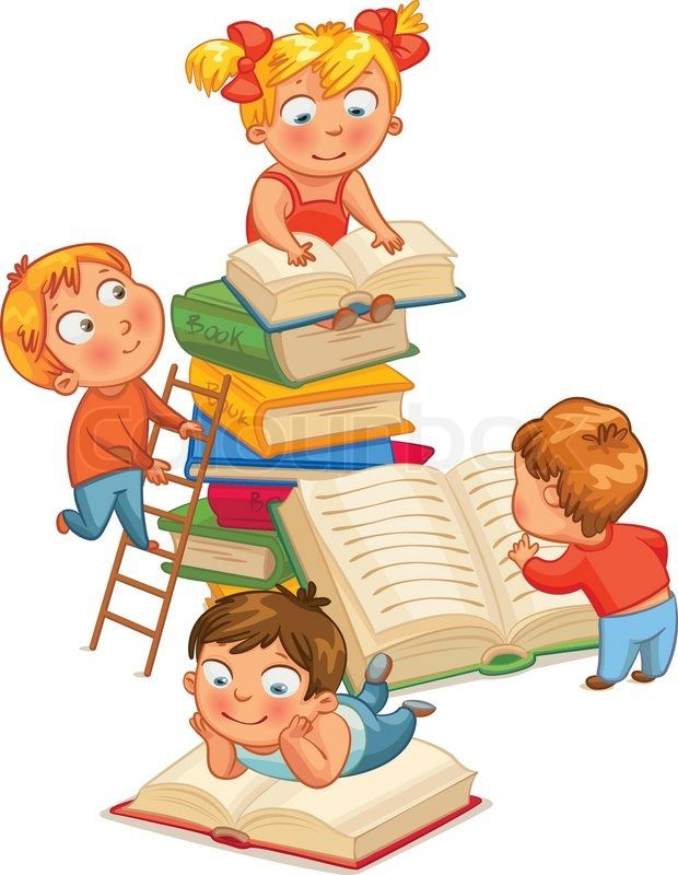 Children books in the. Clipart reading preschool reading