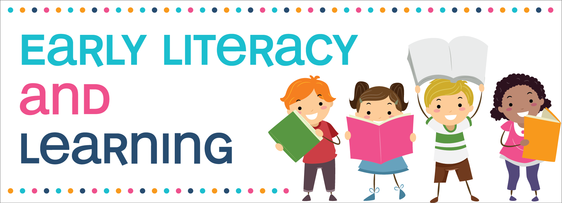 Early literacy learning traverse. Storytime clipart reading challenge