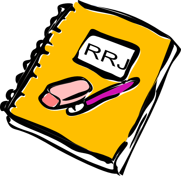 Reader response journal clip. Notebook clipart composition notebook
