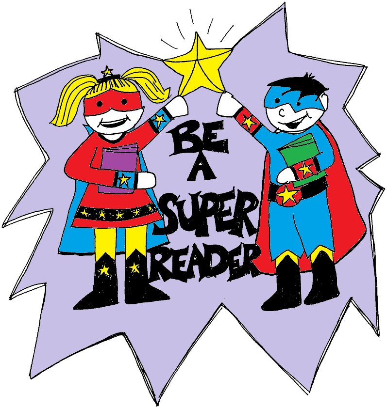 Superheroes clipart super reader.  collection of high