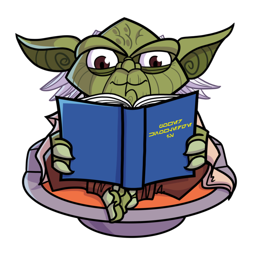 Starwars clipart master yoda. Commish reading loves by