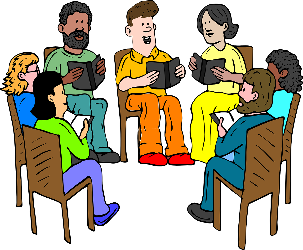 Group clipart group therapy. Lite event national reading