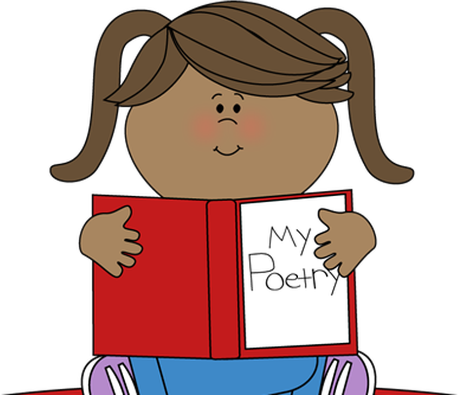 Boy book reding child. Poetry clipart performance poetry