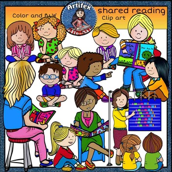 Clipart reading shared reading. Clip art color and