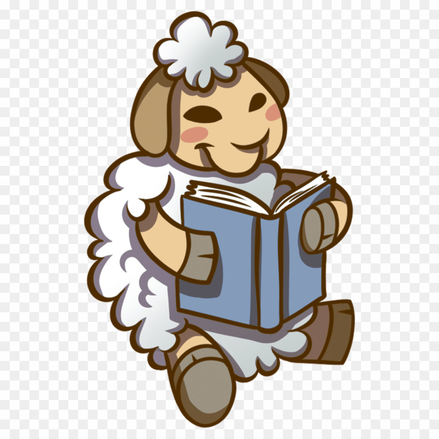 A book png download. Sheep clipart reading
