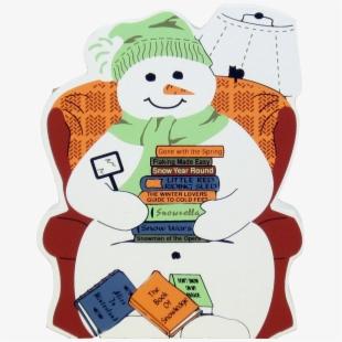Snowman winter book sale. Clipart reading snow