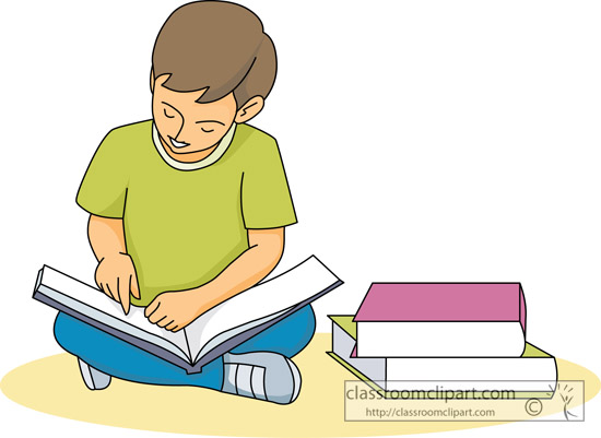 Clipart reading student.  students clipartlook