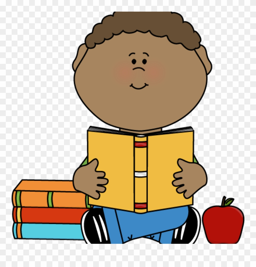 Clipart reading student. Boy clip art little