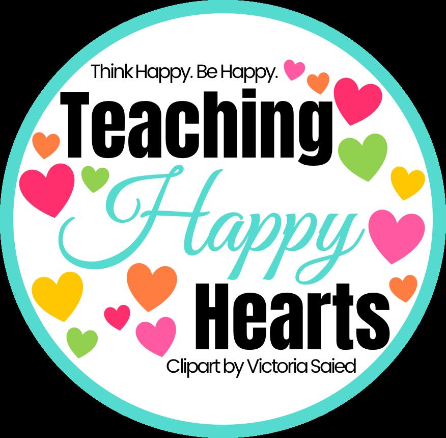 Teaching happy hearts think. Clipart reading teacher
