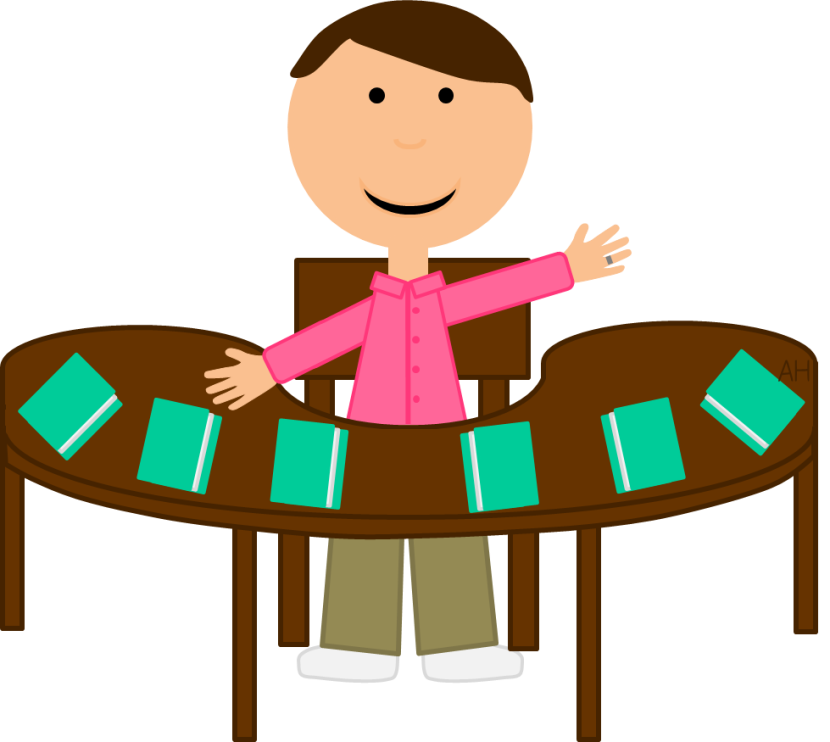Clipart reading teacher. Amazing of letters format