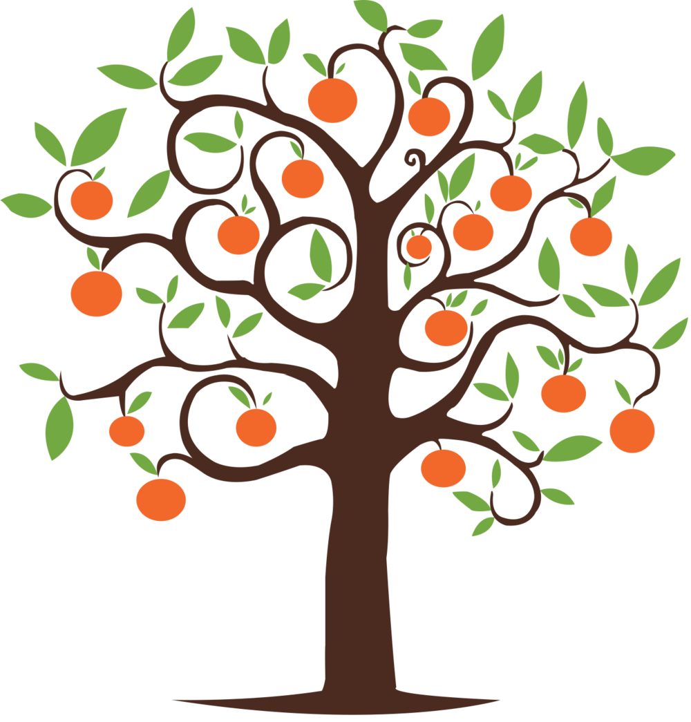 Tangerine . Tree clipart literacy