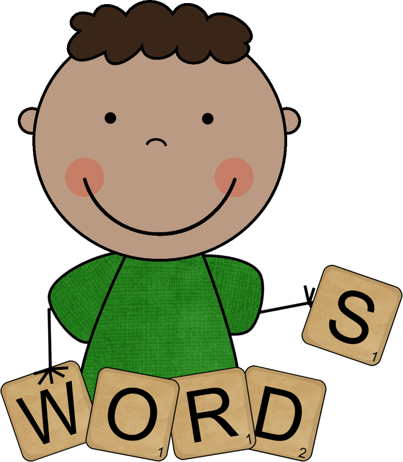 Spelling and red words. Study clipart writing