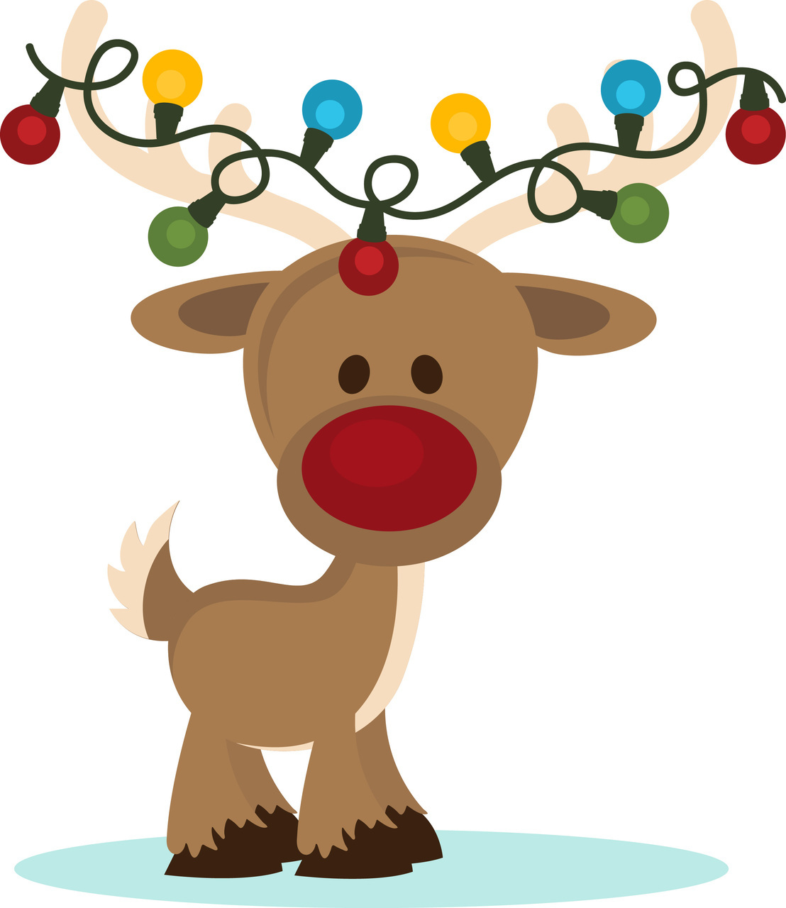 Clipart reindeer.  collection of christmas