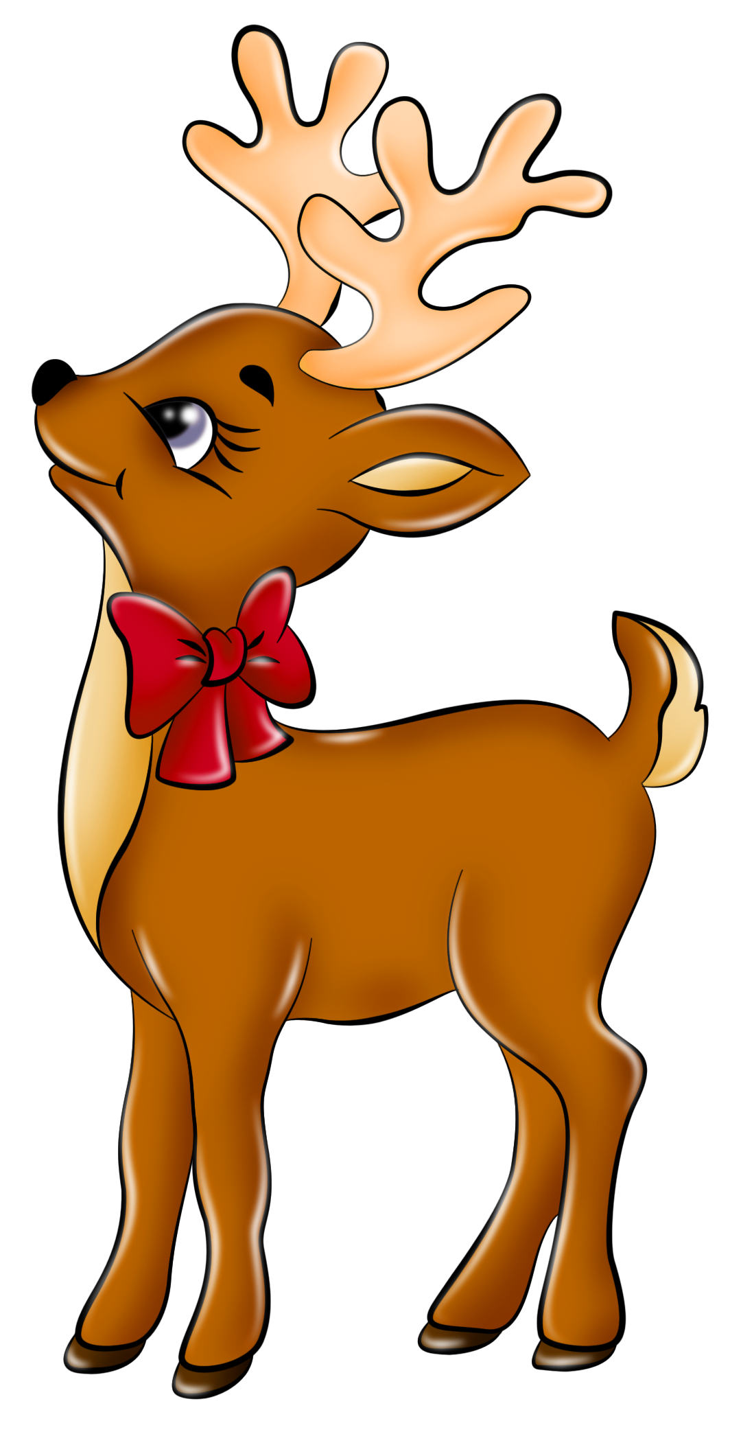 Cute reindeer clip art. Stamp clipart christmas mail