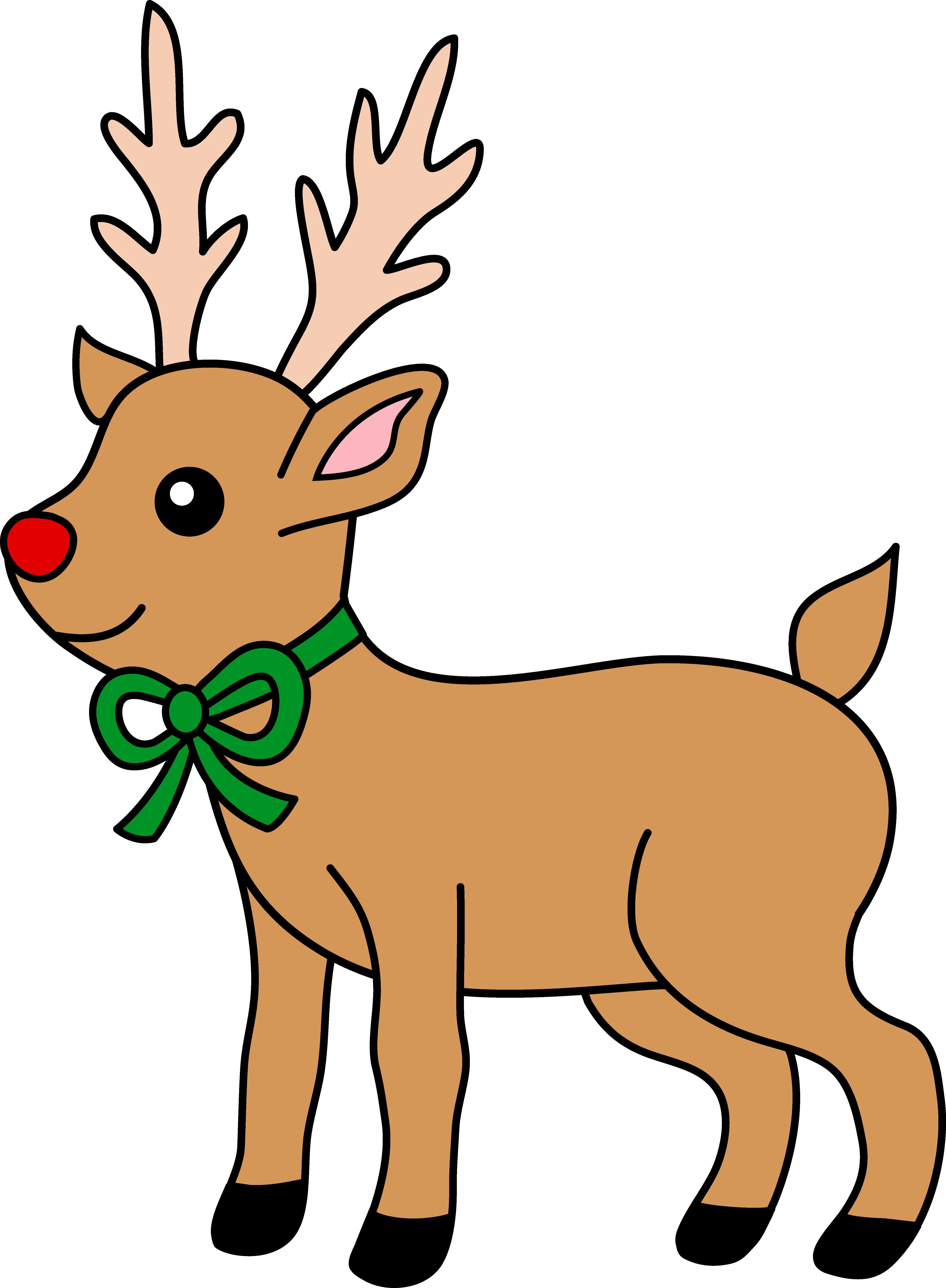 Clipart reindeer.