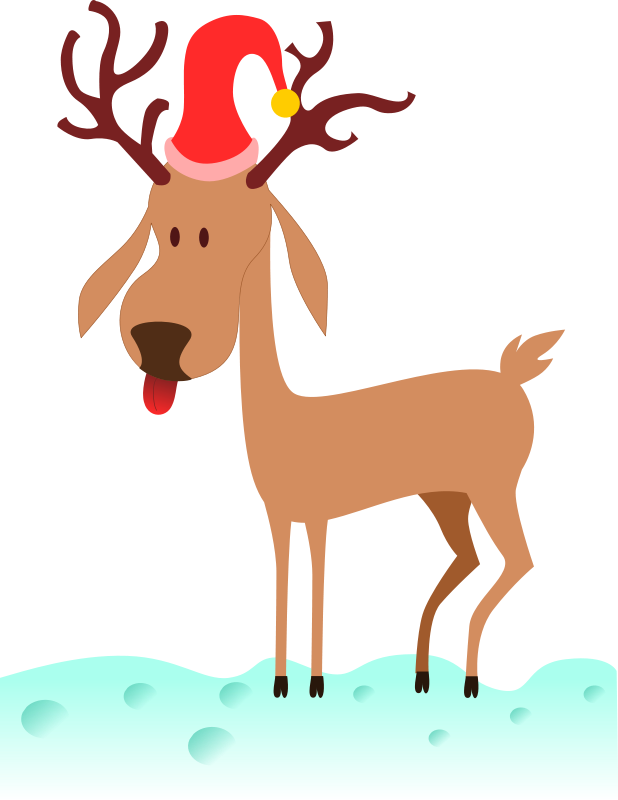 Gingerbread clipart reindeer. Free christmas graphics rudolphs
