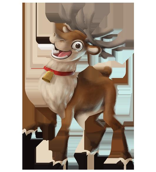 Hahmot santa claus finland. Clipart reindeer arctic reindeer