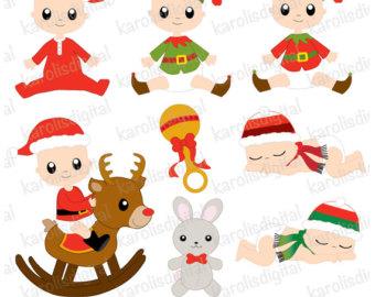 Clipart reindeer baby boy christmas. Cute animals digital clip