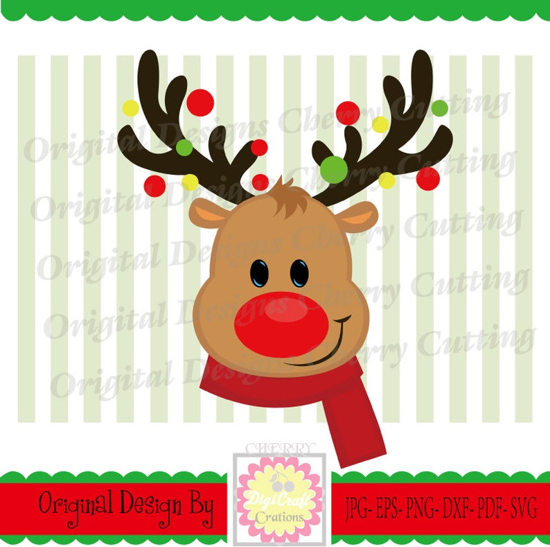 Svg dxf silhouette and. Clipart reindeer baby boy christmas