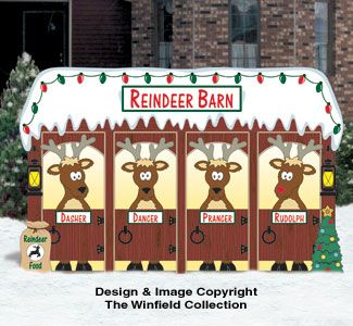 North pole pattern christmas. Clipart reindeer barn