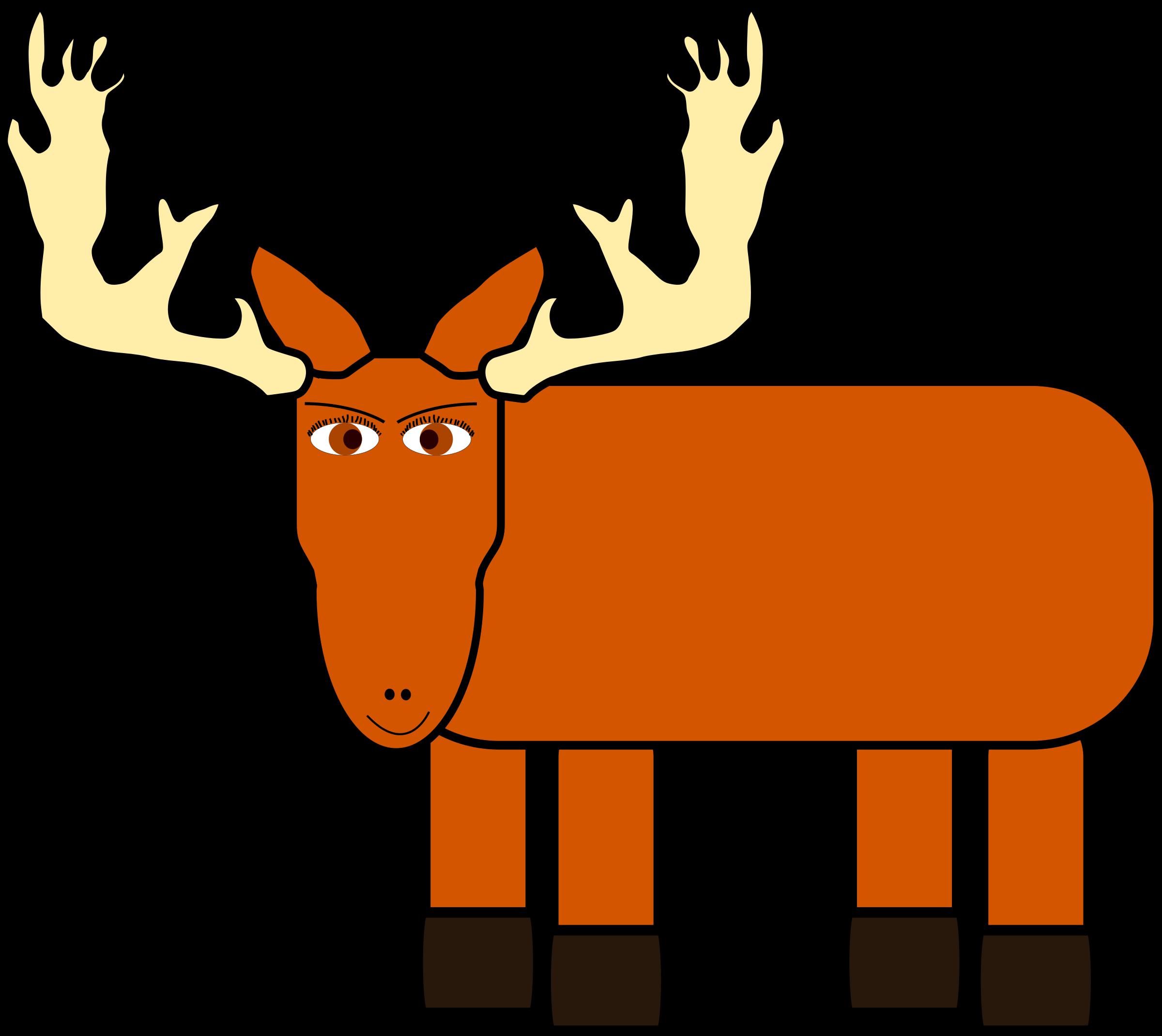 Moose remix big image. Track clipart cartoon