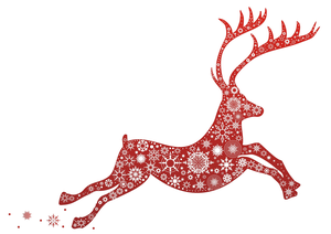 Free images at clker. Clipart reindeer border