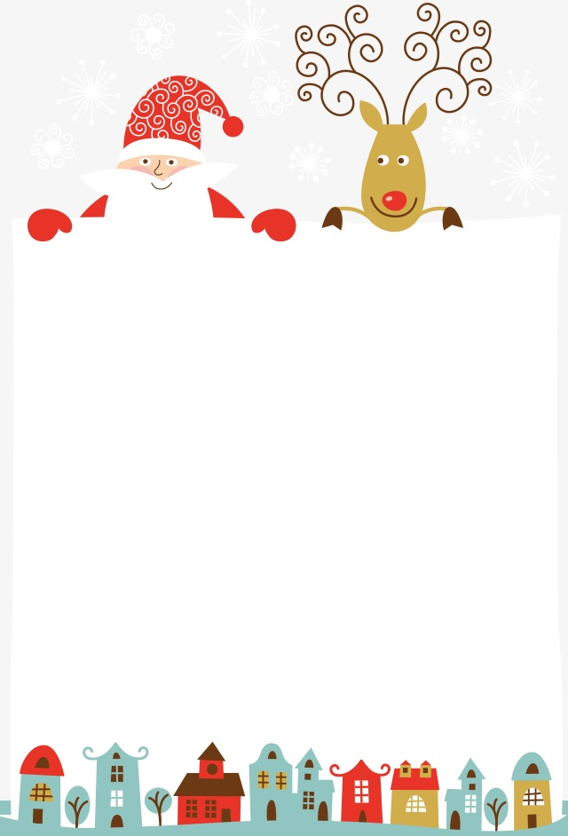 Illustration text product christmas. Clipart reindeer border