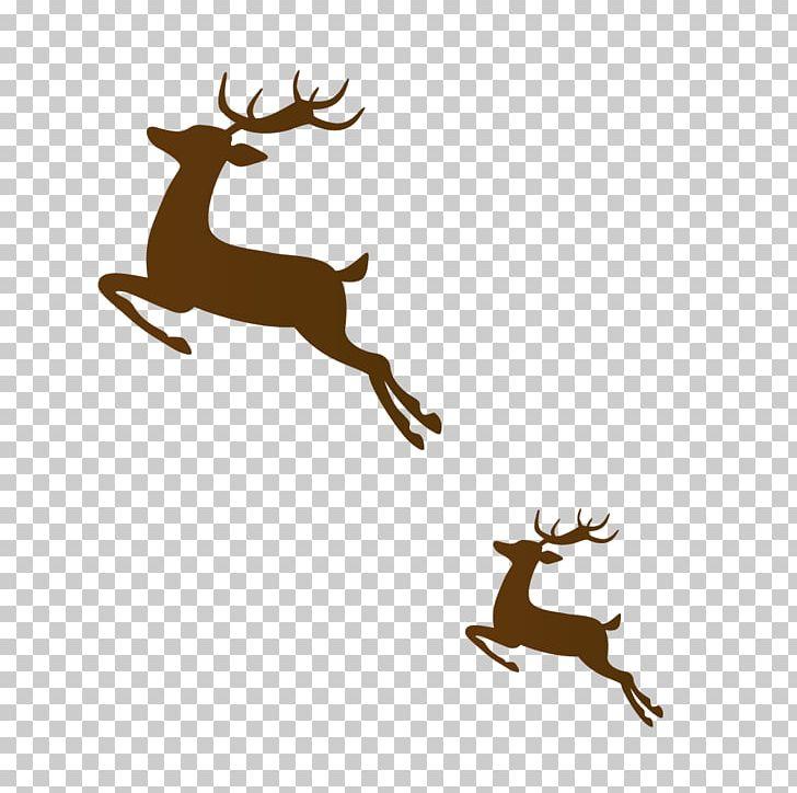 Clipart reindeer brown. Run png animals antler