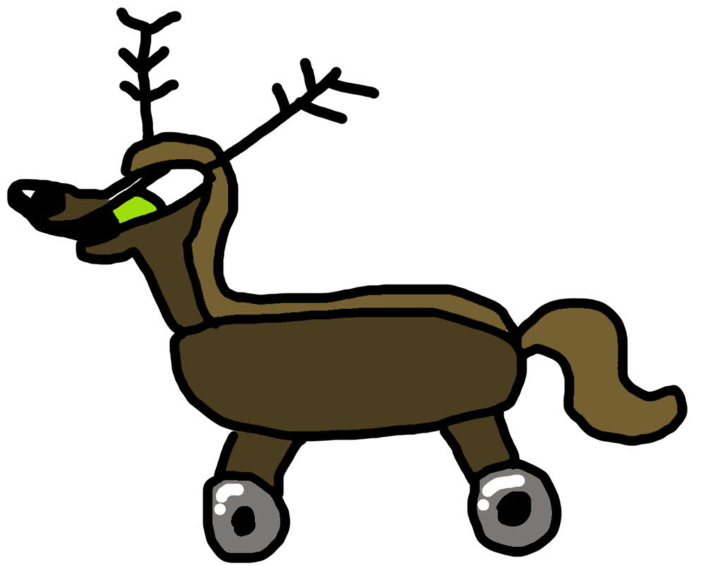 Computer trojan by zacktv. Clipart reindeer brown