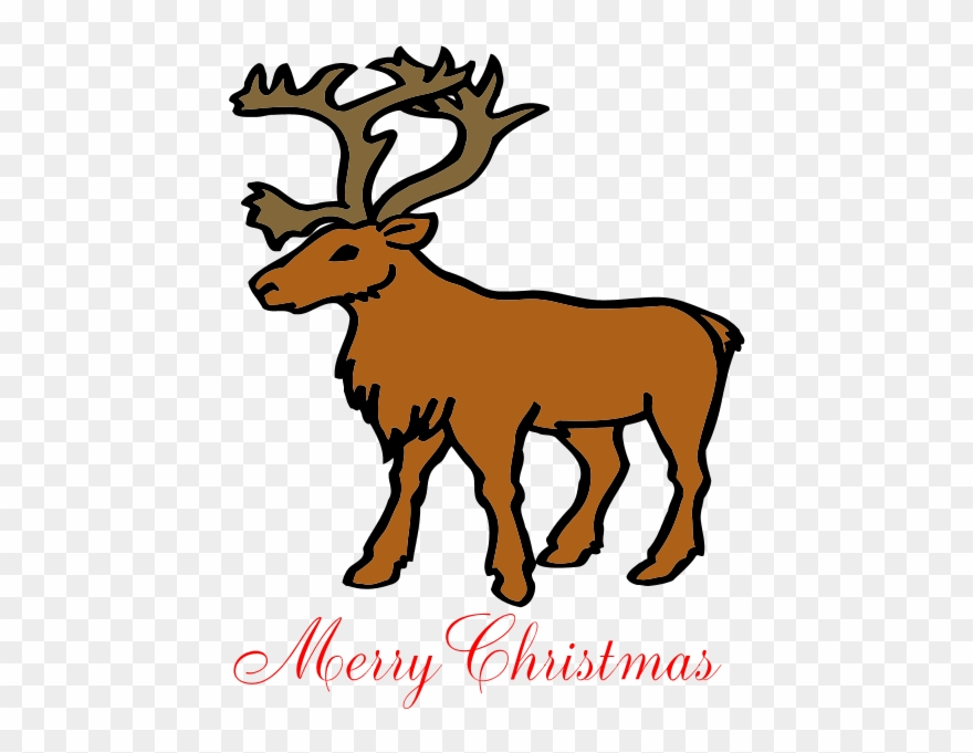 Merry christmas flip flops. Clipart reindeer brown